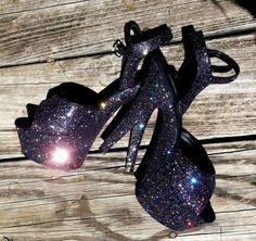 DARK STARR VIXEN black glitter goth sexy pinup girl by erotomania, $130.00