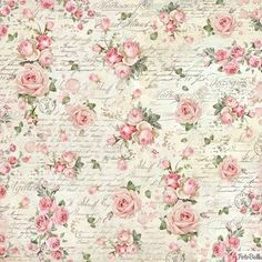 Paper Pad - Pink Christmas Double Sided Sheets) by Stamperia for Scrapbooks, Cards, & Crafting - Идеи для наклеек - Decoupage Vintage, Vintage Paper, Napkin Decoupage, Vintage Cards, Printable Scrapbook Paper, Printable Paper, Printable Vintage, Free Printable, Floral Vintage