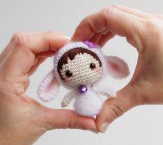 White Sheep Doll Tanoshi by lella ✿ڰۣ— - Original pattern by Tatyana Korobkova - Deniza'sToys Joys