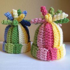 CROCHET PATTERN - Tutti Frutti - A striped corkscrew hat in 6 sizes (Infant - Adult S) - Instant PDF Download via Etsy