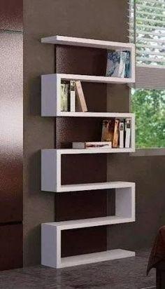 biblioteca minimalista tipo s - acabado en laca