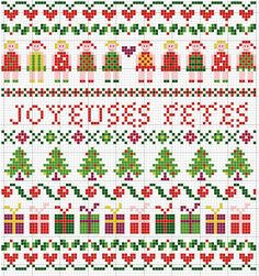 Christmas band sampler cross-stitch - free