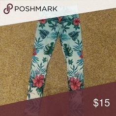 cce7c3548bbc Tropical Leggings - One Size 3-12 Tropical print leggings NWT legging army  Pants Leggings