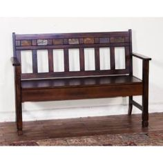Check out the Sunny Designs 1594DC Santa Fe Bench with Storage in Dark Chocolate priced at $392.50 at Homeclick.com.