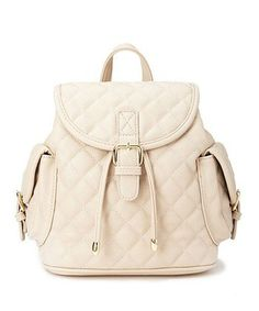 Quilted Faux Leather Backpack, $27.80, Forever 21 - http://AmericasMall.com/categories/juniors-teens.html