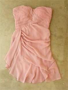 Lovely Short Strapless with Ruched Bodice Chiffon Prom Dress PD1947 www.simpledresses.co.uk £78.0000