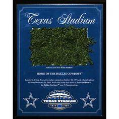 Texas Stadium Game Used Turf Plaque (1996-2008)