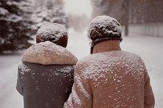 snowflakes on shoulders