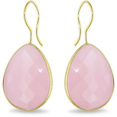Ice 28 CT Rose Quartz Sterling Silver Earrings ($110) ❤ liked on Polyvore featuring jewelry, earrings, accessories, women's accessories, dangle earrings, long earrings, rose quartz jewelry, yellow earrings and filigree earrings