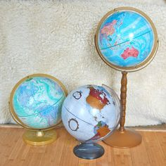 Instant Collection of Vintage Globes. - would be cool for a vintage shoot