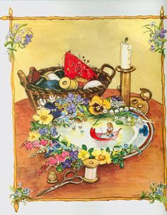 thumbelina ~ illustrator tasha tudor...from the tasha tudor book of fairy tales