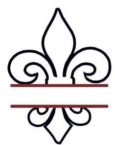 Split Fluer de Lis Applique Embroidery Design - Instant Download on Etsy, $3.00