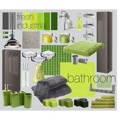 fresh industrial bathroom, created by vercza on Polyvore