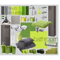 fresh industrial bathroom, created by vercza on Polyvore
