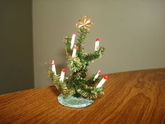 Antique Miniature FEATHER CHRISTMAS TREE  by PastPossessionsOnly, $29.95