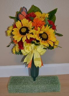 fall graveside flowers - Google Search