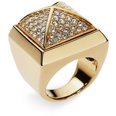 Pave Pyramid Ring by Michael Kors #Ring #Michael_Kors
