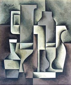 MID-CENTURIA : Art, Design and Decor from the Mid-Century and beyond: José Pedro Costigliolo Paintings II Geometric Shapes Art, Cubist Art, Classroom Art Projects, Composition Design, Shape Art, Color Pencil Art, Art Lessons Elementary, Abstract Drawings, Art For Art Sake