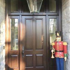 Side Light Entry Doors | Amberwood Doors Inc. Modern Wooden Doors, Wooden Main Door Design, Custom Wood Doors, Double Doors Exterior, Double Front Doors, Malvern House, Entry Doors, French Doors, Clear Glass