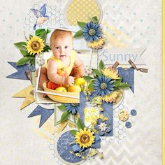 Sunflowers and Lemonade Collection by Alexis Design Studio  http://www.thedigichick.com/shop/Sunflowers-and-Lemonade-Bundle.html Template - You Crack Me Up by Dagi's Temp-tations