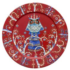 enchanting dinner plate   iittala Taika Red Dinner Plate   $45.00