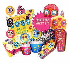 Day of the Dead or Dia de los muertos fiesta ideas: Templates and crafts!