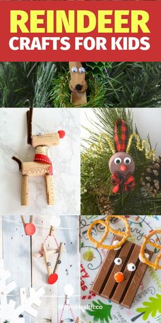 Reindeer Crafts for Kids - 15 Christmas Crafts With Reindeer Templates Crafts For Kids To Make, Christmas Crafts For Kids, Christmas Fun, Inexpensive Christmas Gifts, Homemade Christmas Gifts, Cork Christmas Trees, Christmas Tree Decorations, Reindeer Craft, Business For Kids