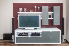 Wohnwand aus Küchenmöbeln, LED Beleuchtung Flat Screen, Best Husband, Homes, Blood Plasma, Flatscreen, Dish Display