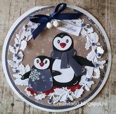 CreAnita:+ronde+pinguin+kaart