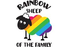 Rainbow Sheep Of The Family LGBT Pride  Artwork