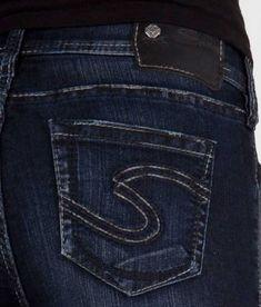 38a88a67 Womens Silver Jeans Mid Rise Suki Slim Boot Dark Bootcut 26 30 32 33 34  DEFECTS   eBay