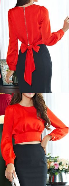 Shop sexy club dresses, jeans, shoes, bodysuits, skirts and more. Chic Outfits, Fashion Outfits, Girl Fashion, Womens Fashion, Fashion Design, Diy Vetement, Latest Outfits, Red Blouses, Corsage