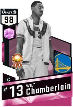 Wilt Chamberlain pinkdiamond card