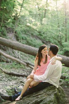 Destiny Dawn Photography | Toronto Wedding Photographer  Forest Engagement Photos