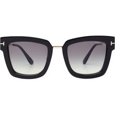 Tom Ford Statement Sunglasses ( 410) ❤ liked on Polyvore featuring  accessories, eyewear, sunglasses, black, oversized sunglasses, tom ford  glasses, ... 3990b8f48a