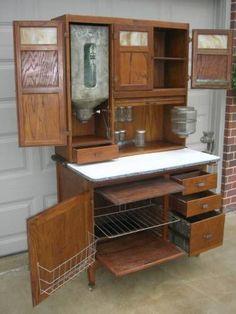 McDougall kitchen cabinet pair door paper chart inserts Hoosier