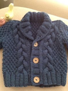 Knit Baby Sweater, Hand Knitted Grey Baby Cardigan, Gray Baby boy Clothes, New Born Baby Gift for Baby Showers, Cable Knit coat