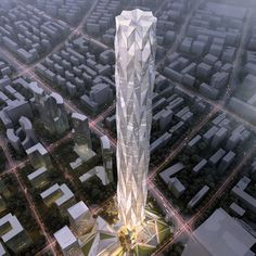 Construction has started in Chengdu, China, on a 468-metre-high (1,535 ft.) crystalline skyscraper by the architects behind the current and future tallest buildings in the world.
