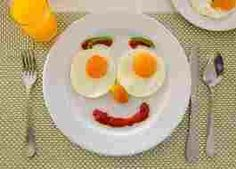 Everything smiles even food