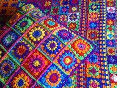 crochê colorido