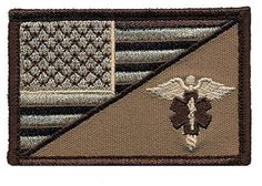Patch Squad Men s USA Flag  EMT Caduceus Morale Patch dc3d8e52ea4