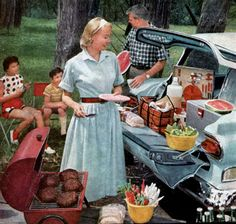 Image result for vintage family  Memorial Day picnic