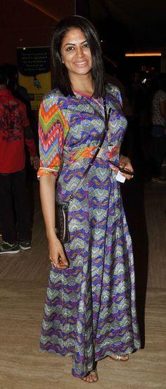 Kavita Kaushik at screening of 'Kis Kisko Pyaar Karoon'. #Bollywood #Fashion #Style #Beauty #Hot