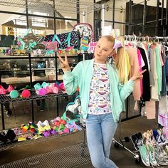 On set with @itsjojosiwa! Follow along on stories & snap! #jojosbowparty #destinationclaires #claires