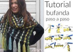 Patrones Crochet: Bufanda bolas bailando paso a paso