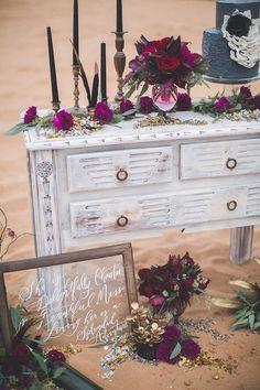 Elegant rustic wedding, marsala, calligraphy, outdoor wedding ideas, boho wedding