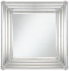 Neville Twist Beveled Square Wall Mirror-27 1/2x27 1/2