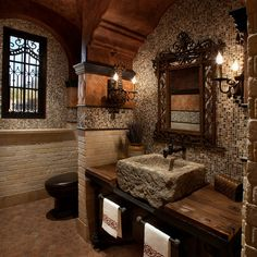 Mediterranean Bath Design Ideas, Pictures, Remodel and Decor