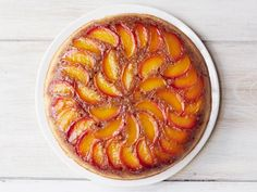 Get Food Network Kitchen's Peach-Bourbon Upside-Down Cake Recipe from Food Network