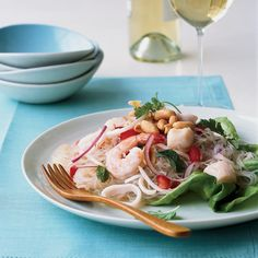 Thai Seafood Noodle Salad // More Healthy Thai Recipes: http://www.foodandwine.com/slideshows/healthy-thai #foodandwine